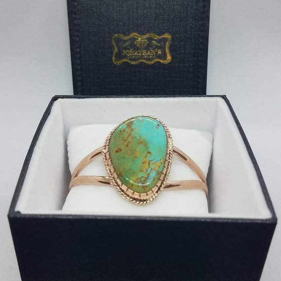 Turquoise & Copper Bracelet in Box