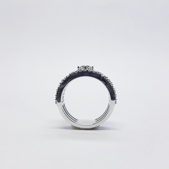 Sapphire & Diamond Band Top View